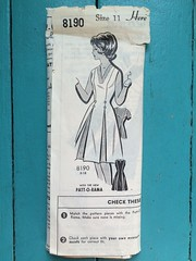 Patt-O-Rama 8190 (kittee) Tags: kittee vintagesewing vintagepatterns pattorama 8190 pattorama8190 size11 dress invertedpleats pleats boxpleat vneck sleeveless nodate 1950s 1960s mailorder sewing sewingpattern vintage pattern