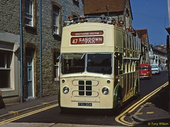 8 SVOC 910 Bristol K5G Brush body Ventnor July71 (Copy) (focus- transport) Tags: isleofwight iow steamship londonundergroundtube tubetrain southernvectis vectis fountaincoaches buses coaches opentoppers bristol k mw re vr sul easterncoachworks ecw marshall ld lodekka lh lhs bedford ymt ymq duple plaxton sb brush nbc srn6 hovercraft national bus company ryde newport sandown shanklin yarmouth freshwater luccombe ventnor