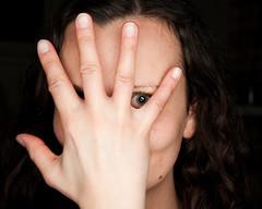 Gosia (Dazzler83 AKA Pappa Snappa) Tags: sexy portrait lady girl brunette eye hand fingers wrist kair ear