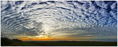 Big Sky Sunset. (vegetus aer) Tags: woodwaltonfen greatfen greatfenproject wildlifetrust bcnwildlifetrust nnr cambridgeshire wildlife rx10m3 landscape panorama sunset
