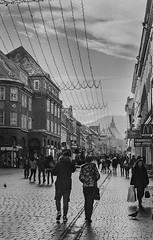 Brasov street (Firescu.C) Tags: adoxsilvermax analog nikonfm film 135 romania epsonv600 filmscan monochrome bw nikkor3570ais brasov urban street