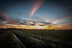 Sunset in the Netherlands (dominicbruins) Tags: landscape sunset outdoor sky sun clouds nikon holland netherlands megchelen