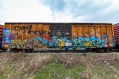(o texano) Tags: houston texas graffiti trains freights bench benching crome