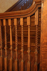 Wooden banister (ejhrap) Tags: wood wooden banister baluster victorian lathe turning handrail