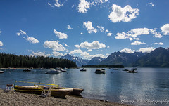 Grand Teton National Park (mingsquared) Tags: grandtetonnationalpark yellowstone park mountains scenery beautiful tokinaaf1224mmf4 nikond3200 nikon lake water boats sky clouds forest trees