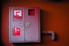 red alert (ralfdaenicke) Tags: red rot feueralarm firehose fireextinguisher firealarm abstract abstrakt pentax k3
