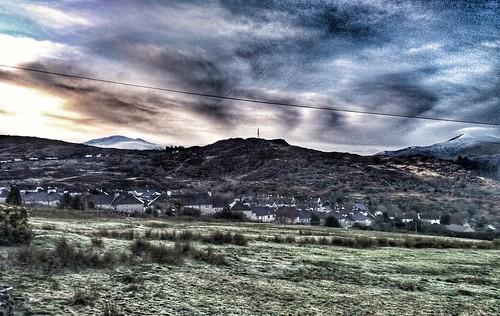 Deiniolen & mount Snowdon.