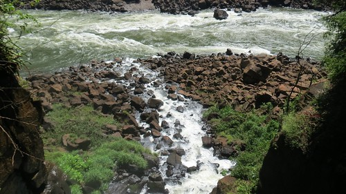 Iguazu river rapids