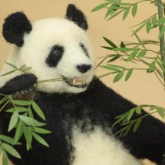 羊毛フェルトパンダ (K A J I) Tags: panda needlefelting 動物 パンダ 羊毛フェルト