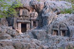 India - Andhra Pradesh - Vijayawada - Undavalli Caves - 74 (asienman) Tags: india statue stone carving caves asienman