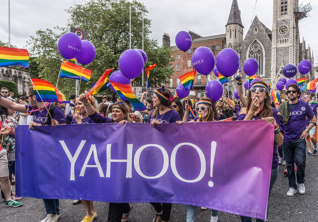 DUBLIN 2015 LGBTQ PRIDE PARADE [THE STAFF FROM YOHOO! WERE THERE] REF-105944