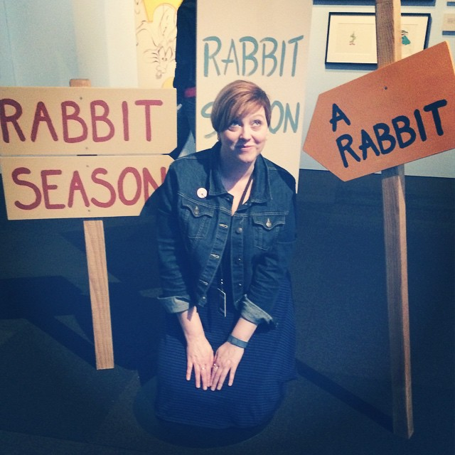 I'm a sucker for silly photo ops. #wabbitexhibit