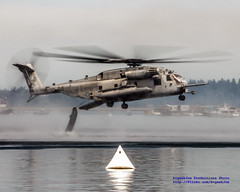 OFF GOES THE DINGY! (AvgeekJoe) Tags: usmc chopper aircraft aviation helicopter marines marinecorps ch53 usmarines superstallion h53 usmarinecorps ch53e ch53esuperstallion sikorskych53esuperstallion marineheavyhelicoptersquadron462 sikorskych53 hmm462 sikorskyh53 seafair2014 marineweekseattle2014 hmm462heavyhaulers