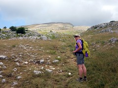 """Edita pauses on the way up Monte Sirente • <a style=""""font-size:0.8em;"""" href=""""http://www.flickr.com/photos/41849531@N04/19130174194/"""" target=""""_blank"""">View on Flickr</a>"""