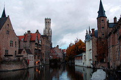 Brugge (Элвин Ваутерсе) Tags: brugge bruges belgium belgie europe european town tower church religion christian christianity old ancient village belg belgians belgian beautiful atmosphere water life live reflection reflections houseofgod houses living apartments tourist tourism skylinestudio nikon d3100 elwinw be outdoor architecture building