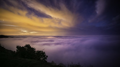 a walk in the clouds (3dRabbit) Tags: ca blue usa color yellow clouds landscape photography walk magic scene sungjinahn
