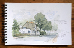 Strand-Strasse Nieblum Fhr (Boris Zatko) Tags: watercolor sketching sketchbook insel nordsee aquarell reetdachhaus strandstrasse skizzieren urbansketchers skizzierbuch