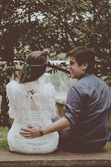 Laila y Gera (Jacqueline Lisboa) Tags: boy woman man love girl brasília vintage happy bride couple amor carinho modelo retro marx casamento asa plano casal sul dupla par burle athos quadra fiancee 308 noivos piloto bulcão