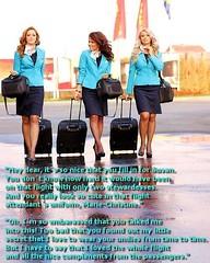 Stewardesses (Marie-Christine.TV) Tags: feminine lady mariechristine flightattendant stewardess kostüm skirtsuit pumps