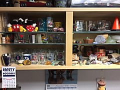 My Dirty Shop #15 (Stones-59) Tags: shot shotglass birdhouse calender shelf shop rock rocks stone stones wood crystal kylesecretan