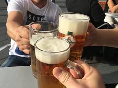Beers in Metzingen!