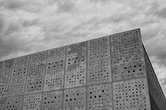angularity (Keith Midson) Tags: canberra architecture sigma dp2m merrill building concrete clouds sky contrast panels