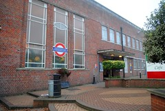 East Finchley Station (zawtowers) Tags: capital ring section 11 walk saturday 17th december 2016 winter misty dry mist hendonparktohighgate amble stroll walking exploring suburbs london east finchley underground tube station zone 3 iconic red brick building exterior outside