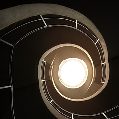 15947552943_07b803ba3b_o (DJANDYW.COM & DJANDYW.TV AKA ANDREW WILLARD) Tags: urbex urban exploration abandoned stairs staircase stairwell spiral eye leluxographe le luxographe light obscure luz licht black noir schwarz negro nero dark shade shadow solitude lonely loneliness window clair obscur clairobscur chiaroscuro abandonné past present time ruin disused unused architecture painting classical flamish school luminism luminist tenebrism tenebrist delatour rembrandt vaneyck brugghen bassano caravaggio france photographie art illumination mystery damage interior daylight building simplicity hope decline room obsolete empty emptiness wall photography contemporary