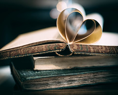 💕 (V Photography and Art) Tags: books antique old vintage heart vsco hearts 50mm retro dof lights twohearts