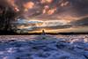 The Snowman (Colin_Evans) Tags: reigate dawn daybreak snow sunrise surrey snowman wide angle england uk