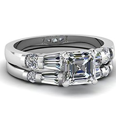 1.65 Ct Asscher Cut Diamond Engagement Wedding Rings Set SI2 GIA (goodies2get2) Tags: 1000ampabove amazoncom bestsellers diamond