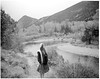 Missy (darylovejr) Tags: crown graphic 4x5 large format landscape portrait girl drugs ilford expired sheet mountains colorado black white