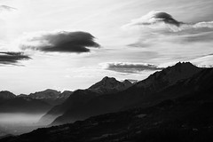"Haze in the Valley (Svend RS) Tags: sonyilce7m2 sonya7 alpha a7m2 90mm sel90m28g shorttelephotolens telephoto telephotolens valley mountain haze blackandwhite monochrome noiretblanc ""artinbw"" biancoenero blancoynegro"