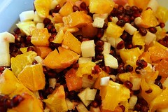 Fruit Salad (Let Ideas Compete) Tags: food fruit jicama pomegranate oranges diced seeds chopped healthy nutritious vitamins healthfood colorful colour colourful