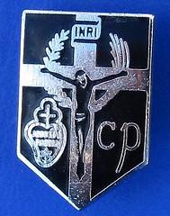 The Congregation of the Passion of Jesus Christ (Passionists) - congregational member's badge (1960's - 1980's) (RETRO STU) Tags: congregationofthepassionofjesuschrist passionists catholicchurch stpaulofthecross paolofrancescodanei cp congregatiopassionisiesuchristi jesuxpipassio passionem crucifixion inri iesusnazarenusrexiudaeorum staudeonschurch dublin mountargos stmungos glasgow enamelbadge