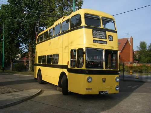 Bournemouth trolleybus No. 286 at EATM.