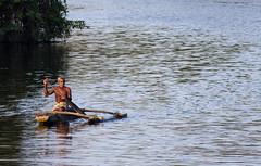Fisherman on boat (David Rosen Photography) Tags: boat canoe fisherman river water srilanka asia travel people culture fishing
