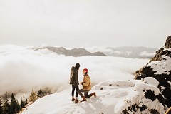 Elle & Christian Proposal (Dylan H0well) Tags: winner oregon coast hike snow mountain ocean beach love proposal engagement outdoors 1924us