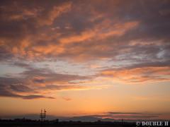 Itami Sky Park 2017.1.1 (2) sunrise glow (double-h) Tags: omdem10markii mzuikodigitaled1442mmf3556ez rjoo itm osakaairport itamiairport 大阪空港 伊丹空港 airplane 飛行機 伊丹スカイパーク itamiskypark