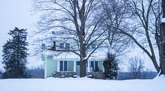 Farmhouse in Winter Snow (marylea) Tags: dec13 2016 commute washtenawcounty