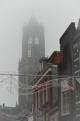 Utrecht's Dom Toren in the mist (natures-pencil) Tags: utrecht netherlands nederland architecture building cathedral tower dom domtoren historical fog mist lovelycity