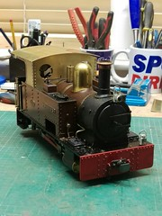 David's New Cab- Accucraft Edrig Modification (woodsidelightrailway) Tags: accucraft edrig live steam locomotive garden railway 16mm scale bagnall