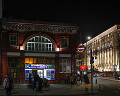 Mornington Crescent station and the Carreras Cigarette Factory (Allan Rostron) Tags: carrerascigarettefactory london undergroundstations camden night