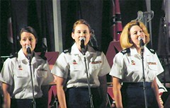 Women Soldiers at West Point (Stanley Zimny (Thank You for 22 Million views)) Tags: women girl sing entertain westpoint soldiers people