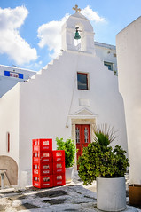 Crates (Kevin R Thornton) Tags: d90 nikon church street city party mediterranean greece crates mykonos ally travel mikonos egeo gr
