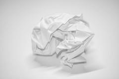 A crumpled last attempt (Karon Elliott Edleson) Tags: justwhitepaper macromondays mm whitesheetofpaper whitebalance assignment lastresort white lesson tamron 60mm canon 7d