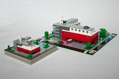 LEGO Firestation micro (xtitus) Tags: lego micro architecture scale
