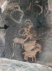 Petroglyphs at Sego Canyon (Ron Wolf) Tags: 42gr275 anthropology archaeology blm nrhp nationalregisterofhistoricplaces nativeamerican segocanyon thompsonwashrockartdistrict petroglyph rockart utah