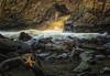 Natures Rush (Erick Castellón) Tags: sunset sunrays pfeifferbeach california star starfish seaside nature rokcs texture seashore waves landscape landscapephotography keyhole water coastal pacific explore