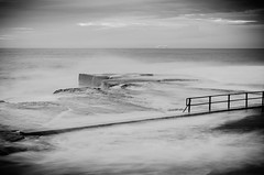 North Curl Curl Ocean Pool (thomasdwyer) Tags: ocean pool oceanpool summer sydney beach sky sunrise clouds water sea surf surfing swim swimming wave waves nsw australia sand nature seascape landscape nikon nikond5100 curl northcurlcurl curlcurl bw black blackandwhite bandw